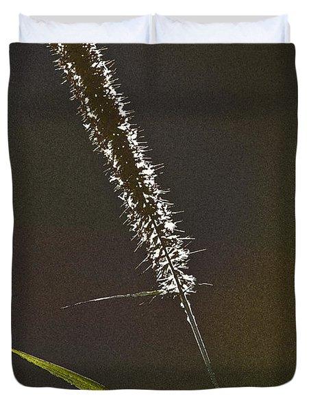 Grass Spikelet Duvet Cover by Heiko Koehrer-Wagner