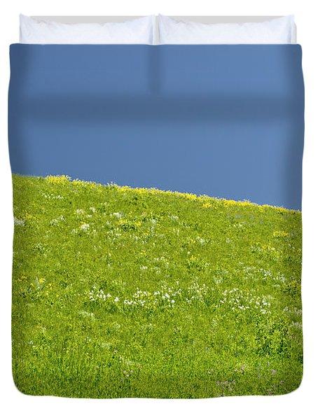 Grassy Slope View Duvet Cover by Roderick Bley