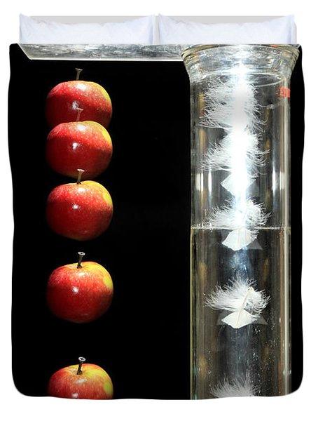 Gravity Comparison Duvet Cover by Ted Kinsman