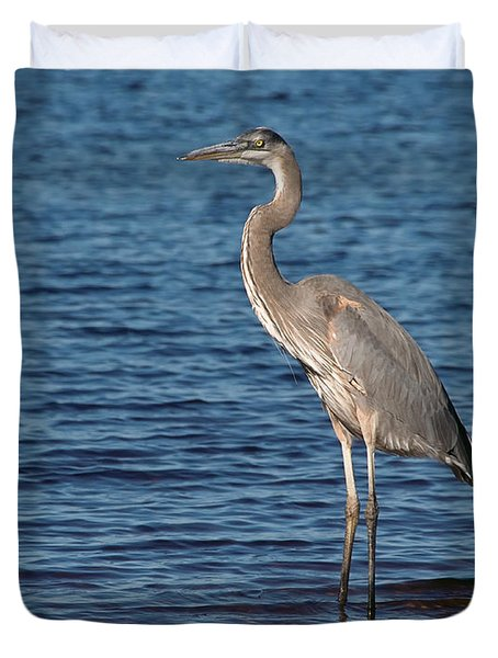 Great Blue Heron Duvet Cover by Art Whitton