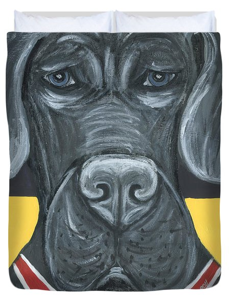 Great Dane Poster Duvet Cover by Ania M Milo