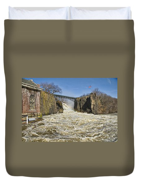 Great Falls Of Paterson    Duvet Cover