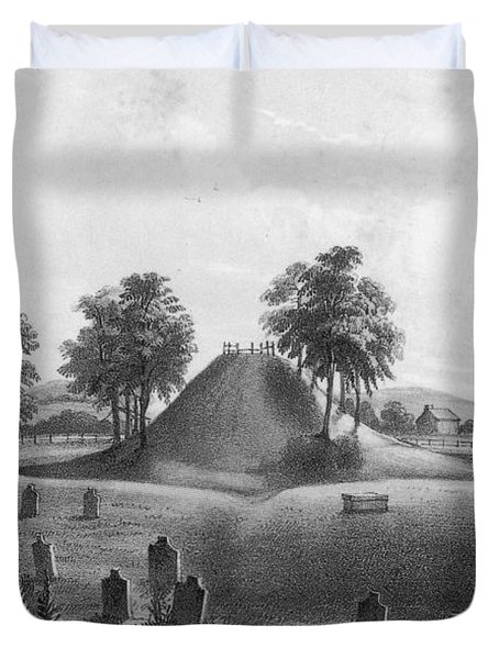 Great Mound At Marietta, 1848 Duvet Cover by Photo Researchers