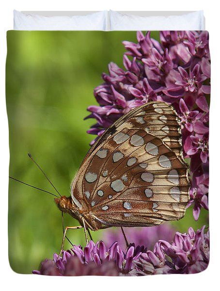 Great Spangled Fritillary Din194 Duvet Cover