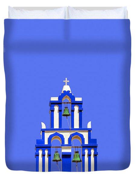 Greek Bell Tower Duvet Cover