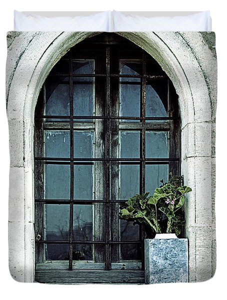 Greek Chapel Duvet Cover by Joana Kruse