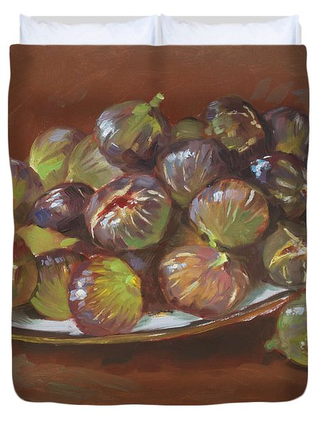 Greek Figs Duvet Cover