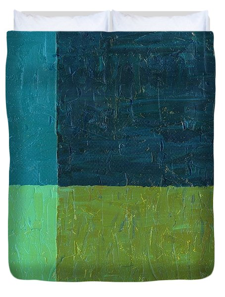 Green And Blue Duvet Cover by Michelle Calkins