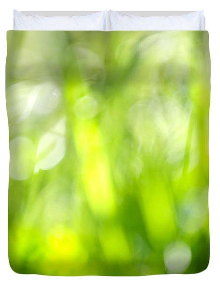 Green Grass In Sunshine Duvet Cover by Elena Elisseeva
