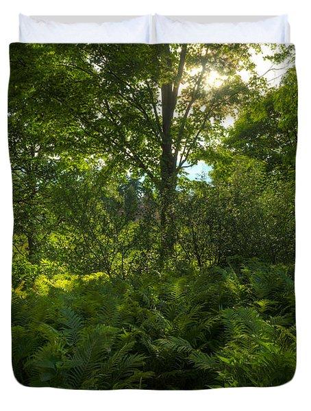 Green Light Duvet Cover by Steve Gadomski
