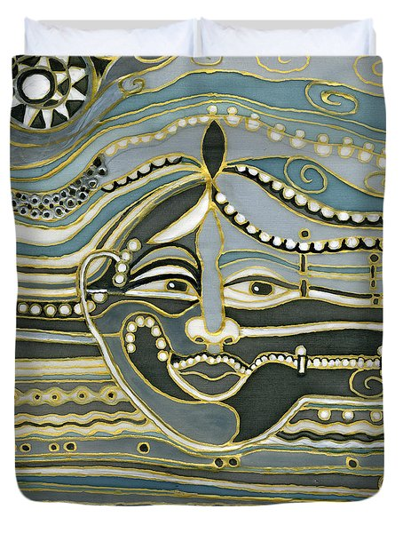 Green Maya Duvet Cover