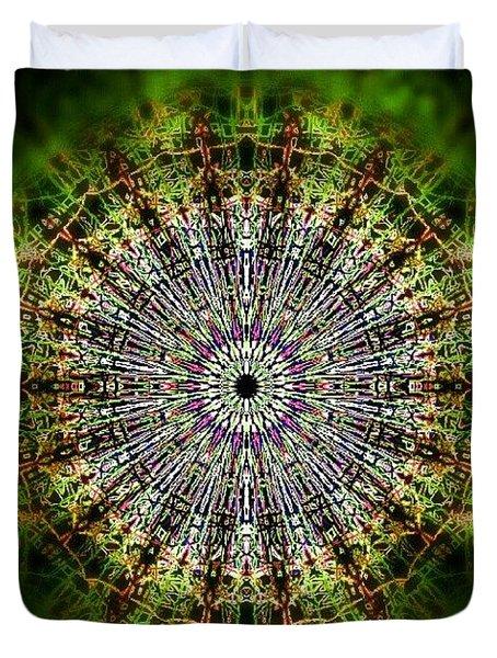 Green Mist Mandala Duvet Cover