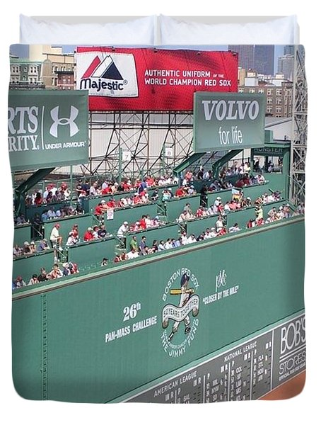 Green Monster Duvet Cover by Kevin Fortier