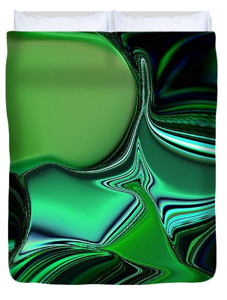 Green Nite Distortion 3 Duvet Cover