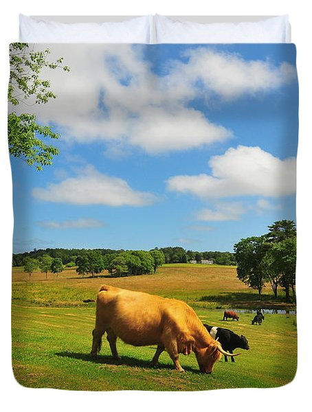 Green Pasture Duvet Cover by Catherine Reusch Daley