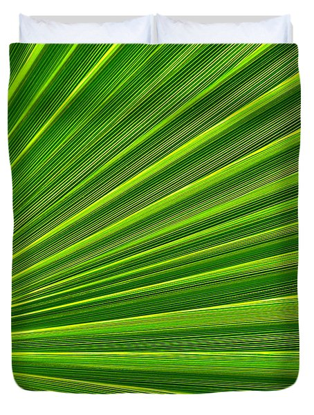 Green Perspective Duvet Cover