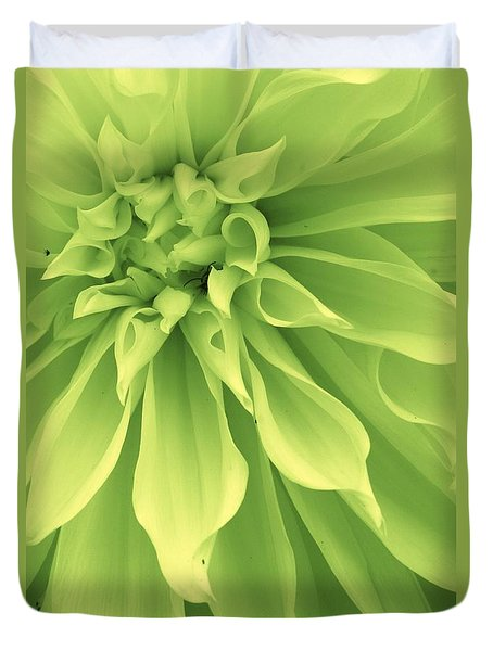 Duvet Cover featuring the photograph Green Sherbet by Bruce Bley