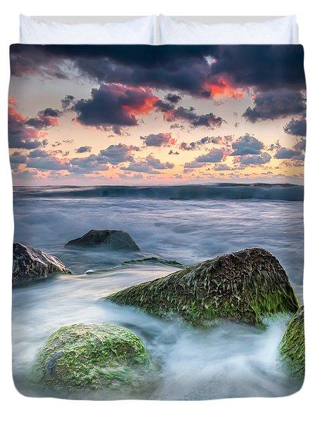 Green Stones Duvet Cover by Evgeni Dinev