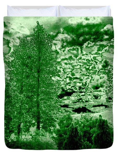 Green Zone Duvet Cover by Will Borden
