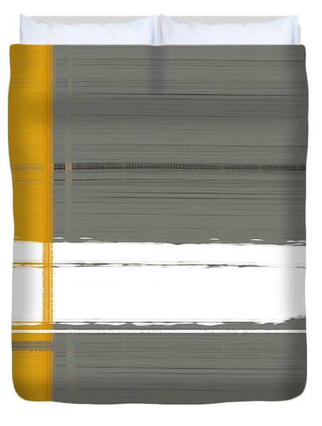 Grey And Yellow Duvet Cover