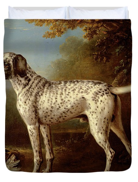 Grey Spotted Hound Duvet Cover by John Wootton