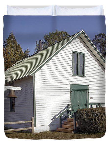 Griffiths Chapel 1850 Duvet Cover by Brian Wallace