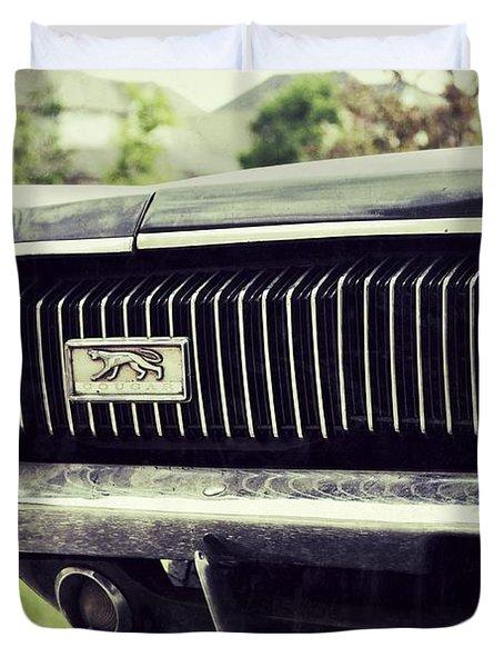 Grilled Cougar Duvet Cover
