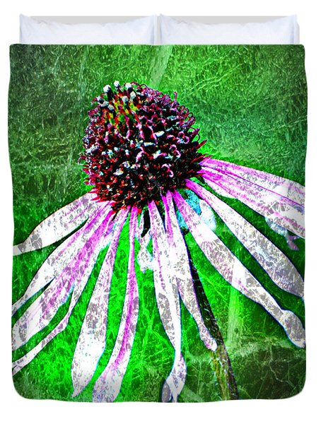 Gritty Coneflower Duvet Cover by Marty Koch