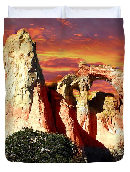 Grosvners Arch Duvet Cover by Marty Koch