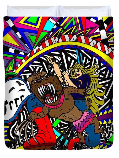 Grrr Duvet Cover by Karen Elzinga