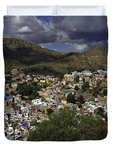 Guanajuato Vista No. 1 Duvet Cover by Lynn Palmer