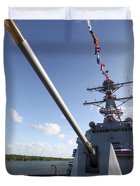 Guided-missile Destroyer Uss Jason Duvet Cover by Stocktrek Images