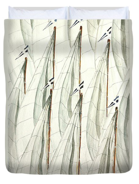 Guidoni Duvet Cover by Giovanni Marco Sassu