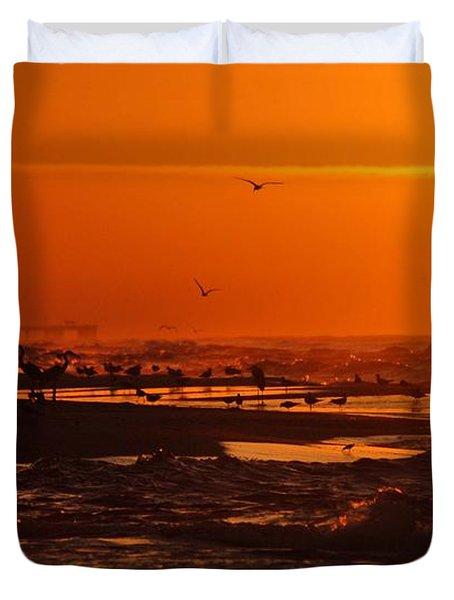 Gulf Coast Sunday Morning Duvet Cover by Michael Thomas