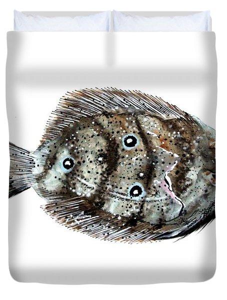 Gulf Flounder Duvet Cover