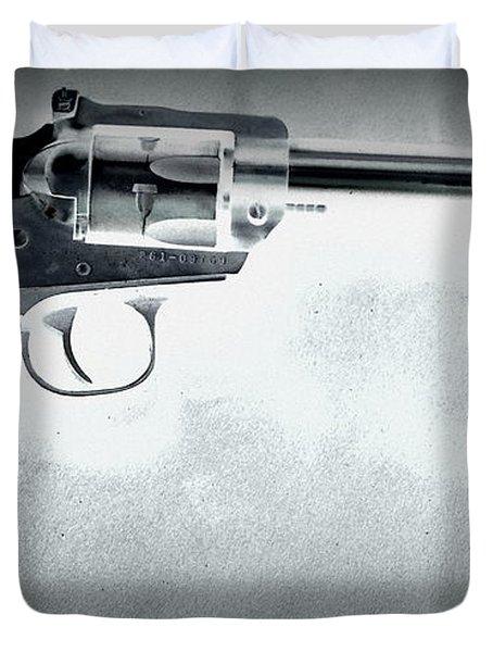 Duvet Cover featuring the photograph Guns And Leather 3 by Deniece Platt