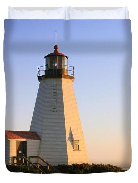 Gurnet Point Lighthouse Duvet Cover by Roupen  Baker