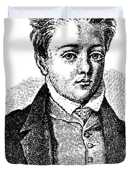 Gustave Flaubert, Age 10, French Author Duvet Cover