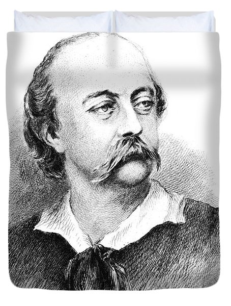 Gustave Flaubert, French Author Duvet Cover by Photo Researchers