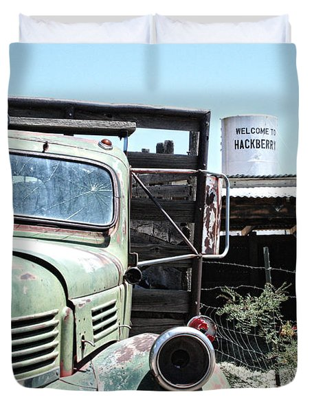 Hackberry Arizona Route 66 Duvet Cover