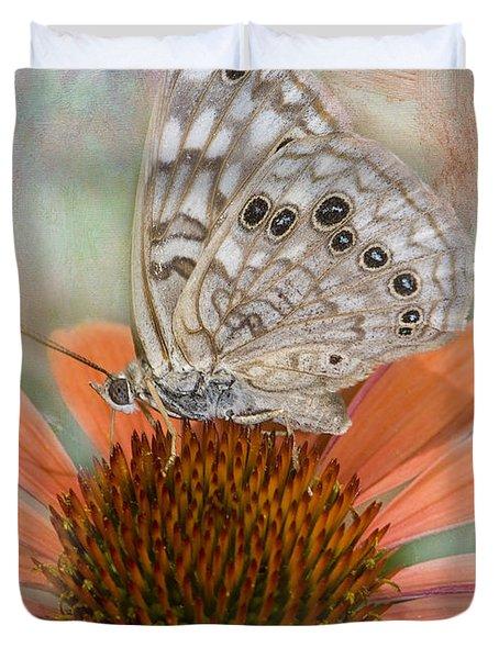 Hackberry Emplorer Butterfly Duvet Cover by Betty LaRue