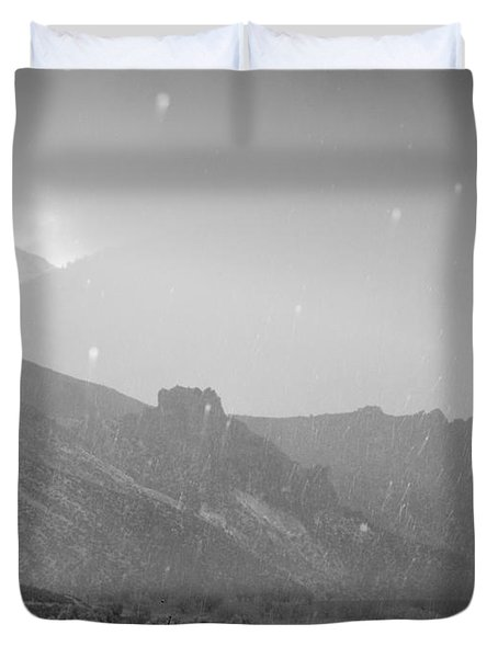 Hail Storm In The Mountains Duvet Cover by Guido Montanes Castillo
