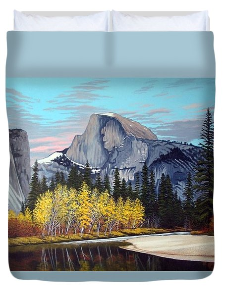 Half-dome Duvet Cover by Rick Gallant