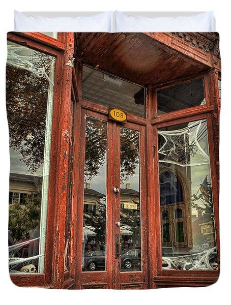 Halloween Storefront - Shepherdstown Wv Duvet Cover