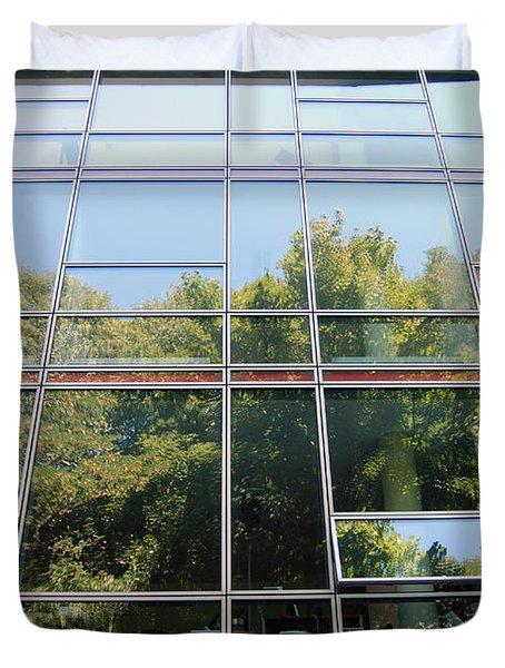 Hamburg Building Reflection Duvet Cover by Eva Kaufman