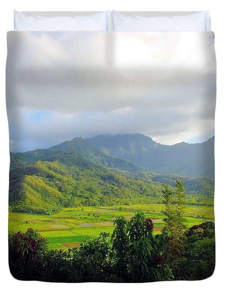 Hanalei Valley View Duvet Cover by John  Greaves