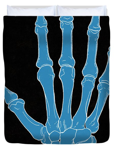 Hand And Wrist Bones Duvet Cover by Science Source