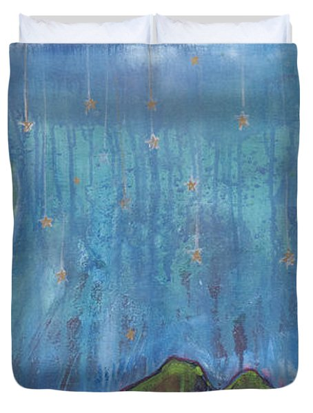 Hang Among The Stars Duvet Cover