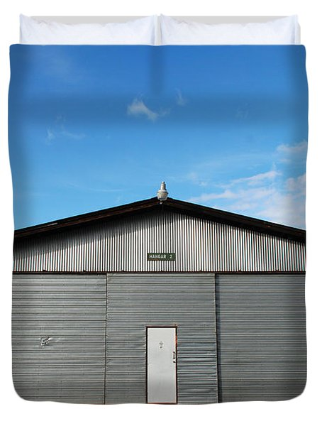 Duvet Cover featuring the photograph Hangar 2 by Kathleen Grace