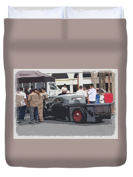 Hanging At The Car Show Duvet Cover by Steve McKinzie